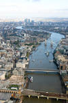 Aerial View Down the Thames