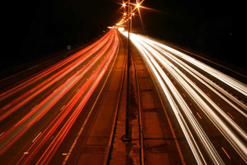 M25 Motorway Traffic Trails 1