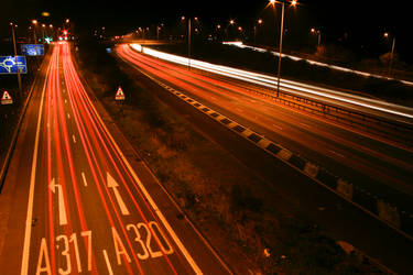 M25 Motorway Traffic Trails 6