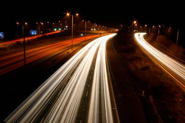 M25 Motorway Traffic Trails 7