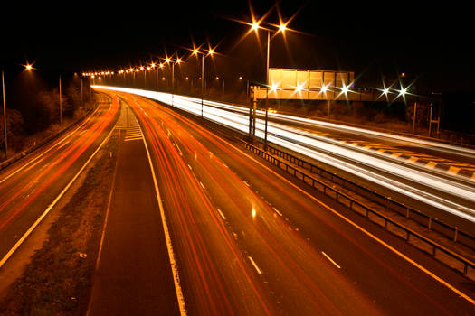 M25 Motorway Traffic Trails 8