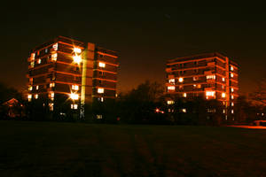 Apartment Blocks at Night
