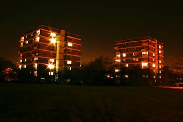 Apartment Blocks at Night