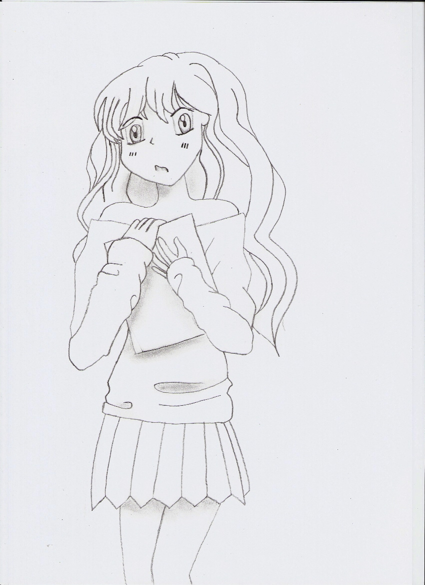 Shocked girl by RawrSheepy