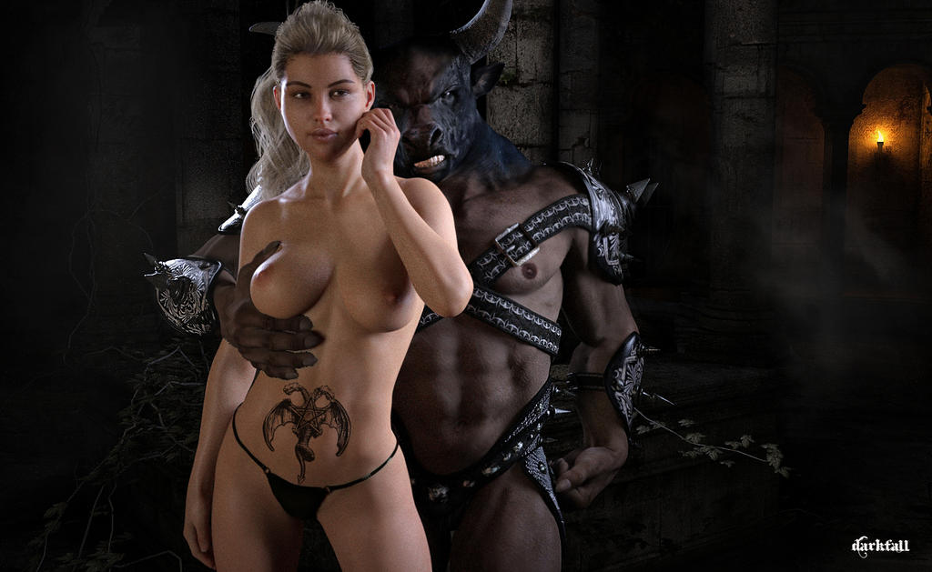 The Minotaur's Lady by DarkFall16