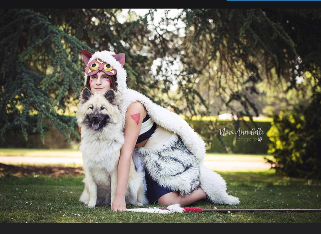 princess mononoke cosplay with dog