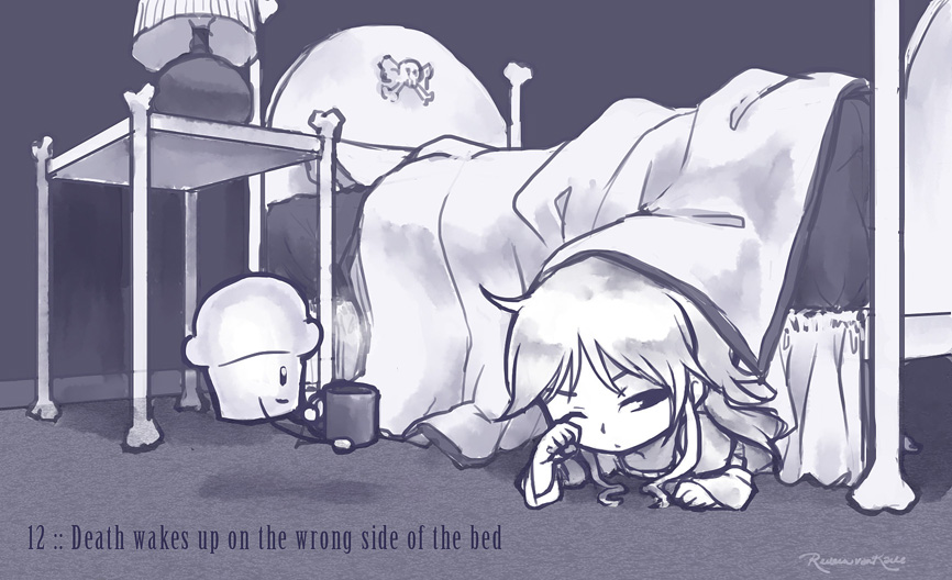 12 :: Death wakes up on the wrong side of the bed by VoxGraphicaStudio