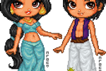 Jasmine and Aladdin by TheRainbowCloud