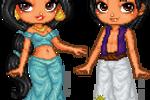 Jasmine and Aladdin by TheRainbowCloud