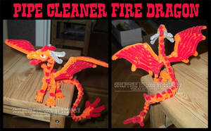 Fire Dragon - pipe cleaner art by teblad