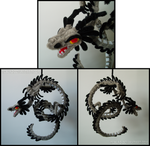 Pipecleaner Dragon of Storms by teblad