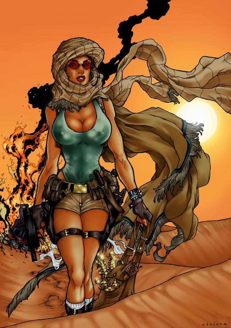 Tomb Raider-Deserto by Caciano-Alison