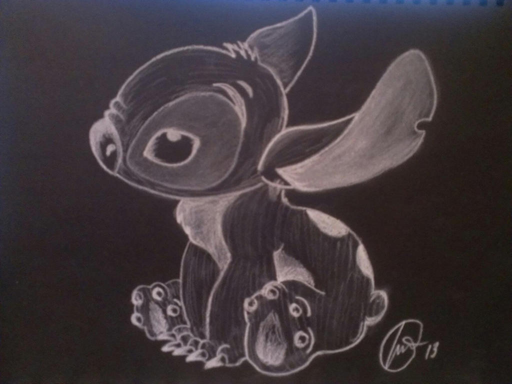 experiment 626 study of chalk on black paper by