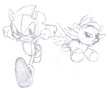 Sonic vs rainbow dash race sketch 1 by megaartist923 on for Sonic dash coloring pages
