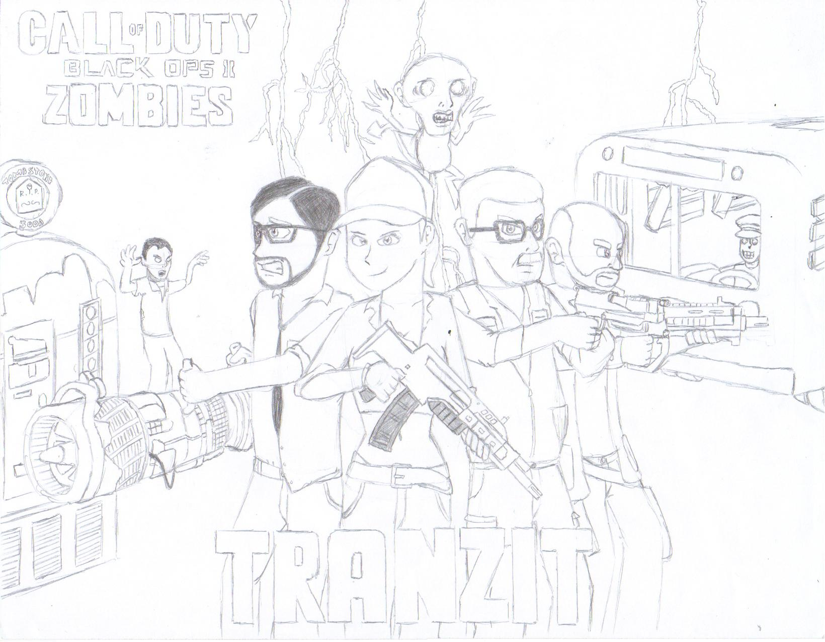 black ops 2: tranzit by megaartist923 on deviantart - Black Ops Zombies Coloring Pages