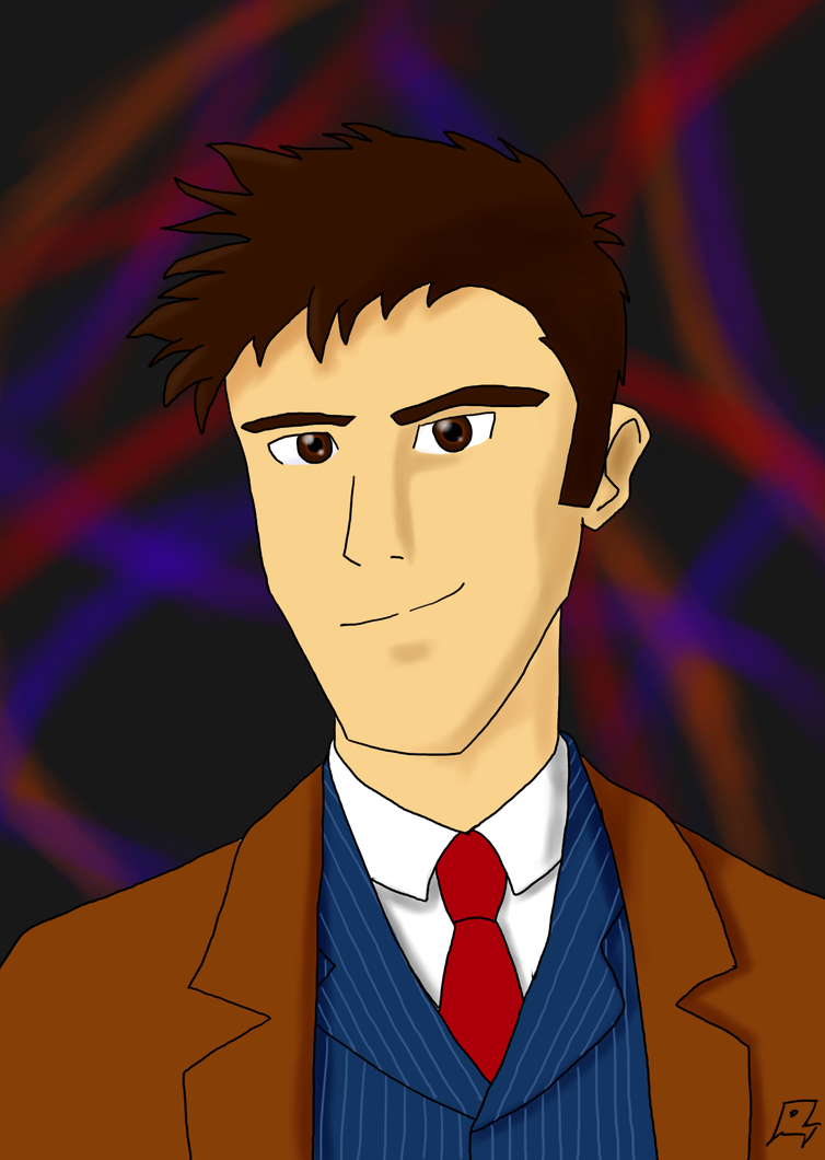 Tenth Doctor: Blue Suit by MegaArtist923