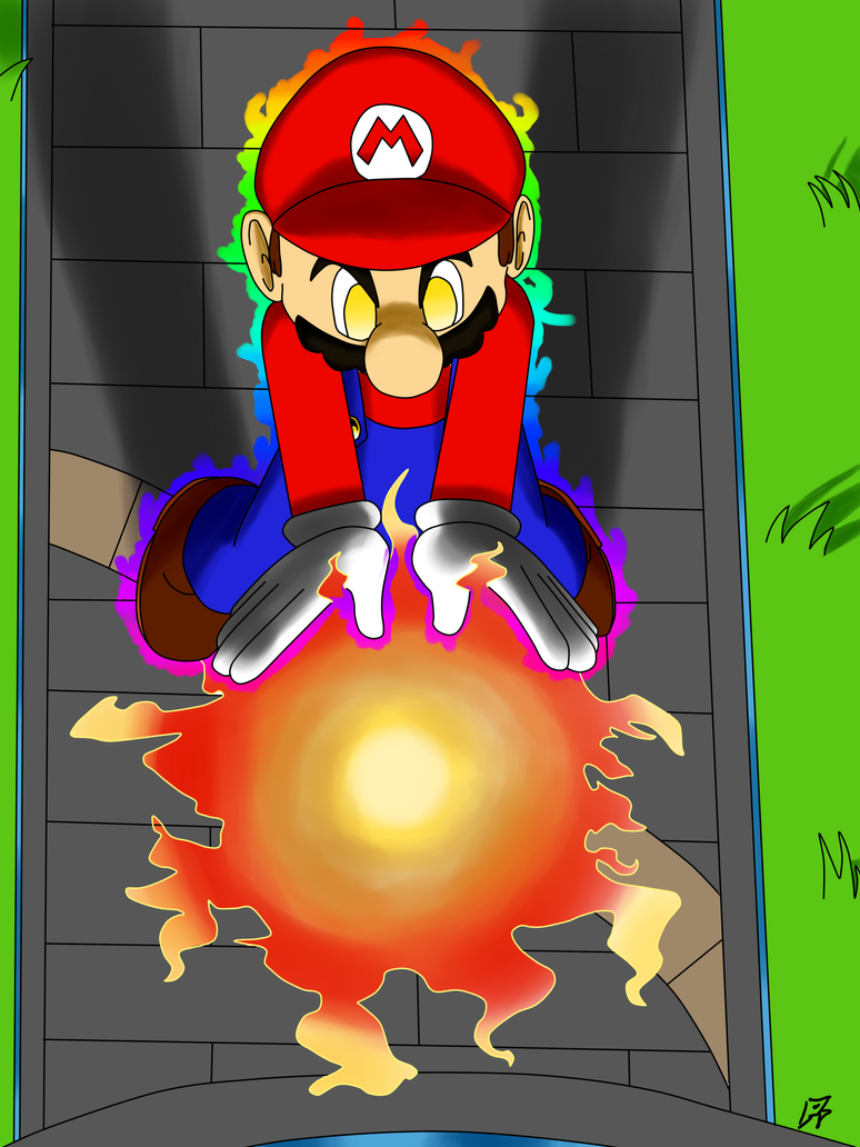 SSB4: Mario Fireball by MegaArtist923