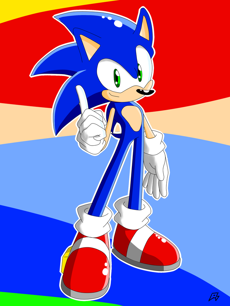 Sonic Pose Sept. 2015 by MegaArtist923