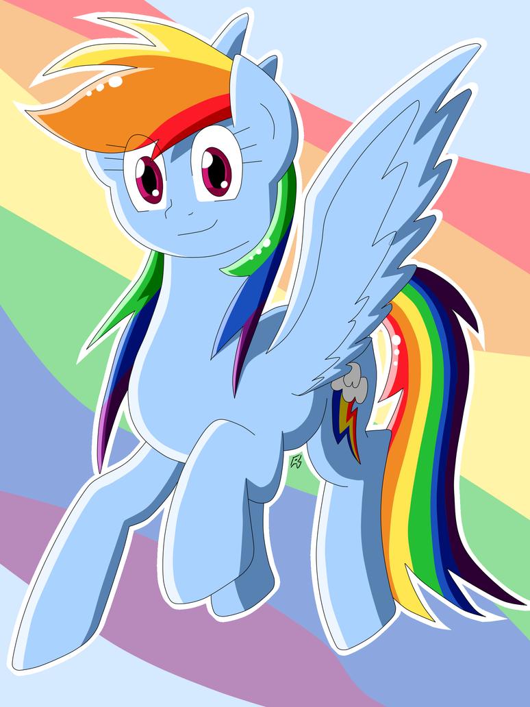 Rainbow Dash Pose Sept. 2015 by MegaArtist923