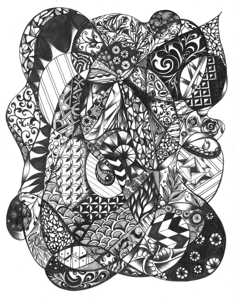 Zentangle- FLOW by angelfire8080