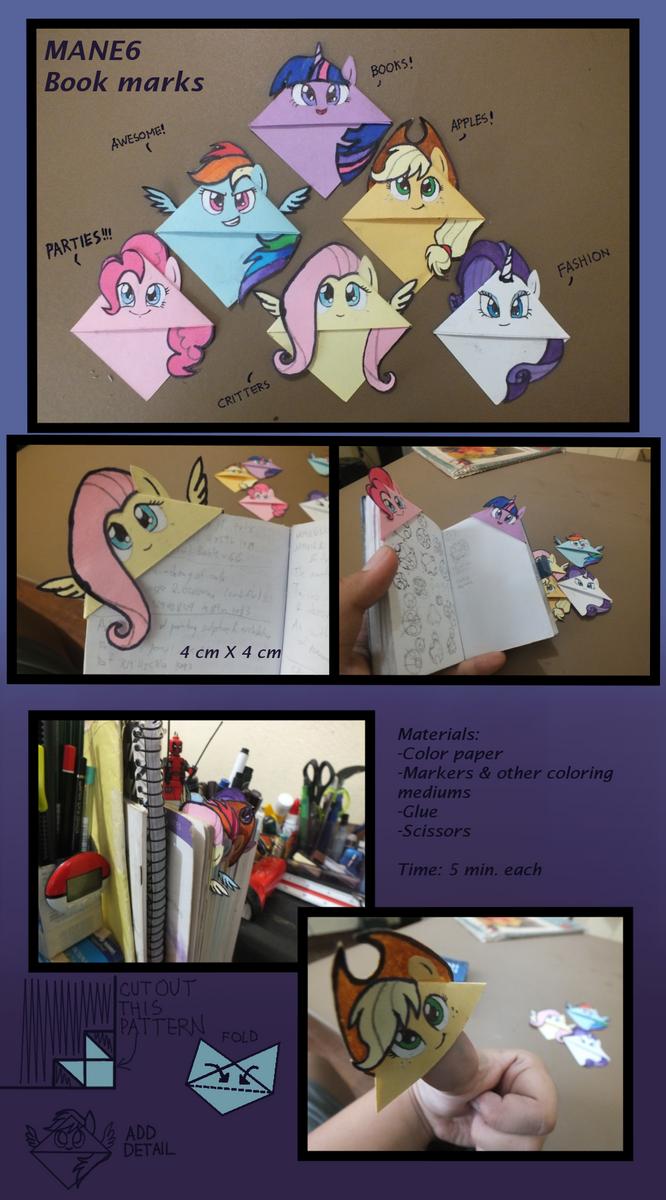 Mane6 Bookmarks by xilenobody143