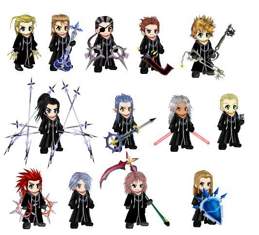 Chibi Organzation 13 by snuffle12321Xemnas Kingdom Hearts Chibi