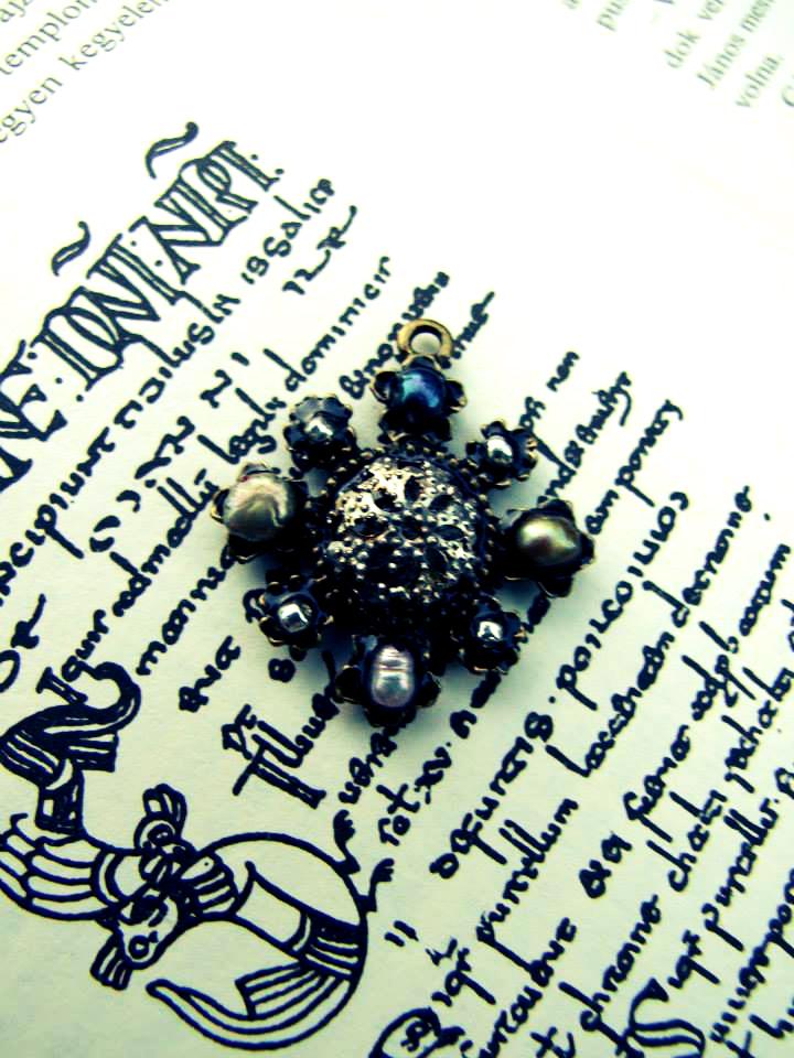 Pearls and Beadcap Pendant by automatonaliza