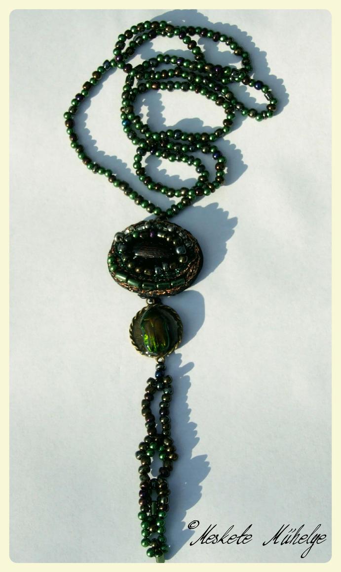 Rose Chafer and Carabus Granulatus Necklace 01 by automatonaliza