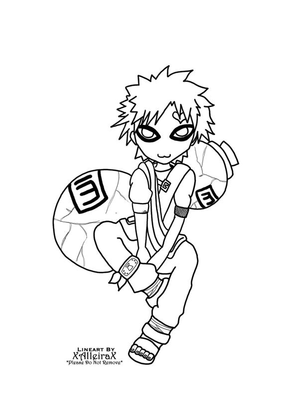 gaara coloring pages - photo#47
