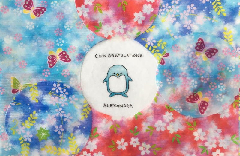 Congratulations Penguin - Origami Micropainting by ColaChu