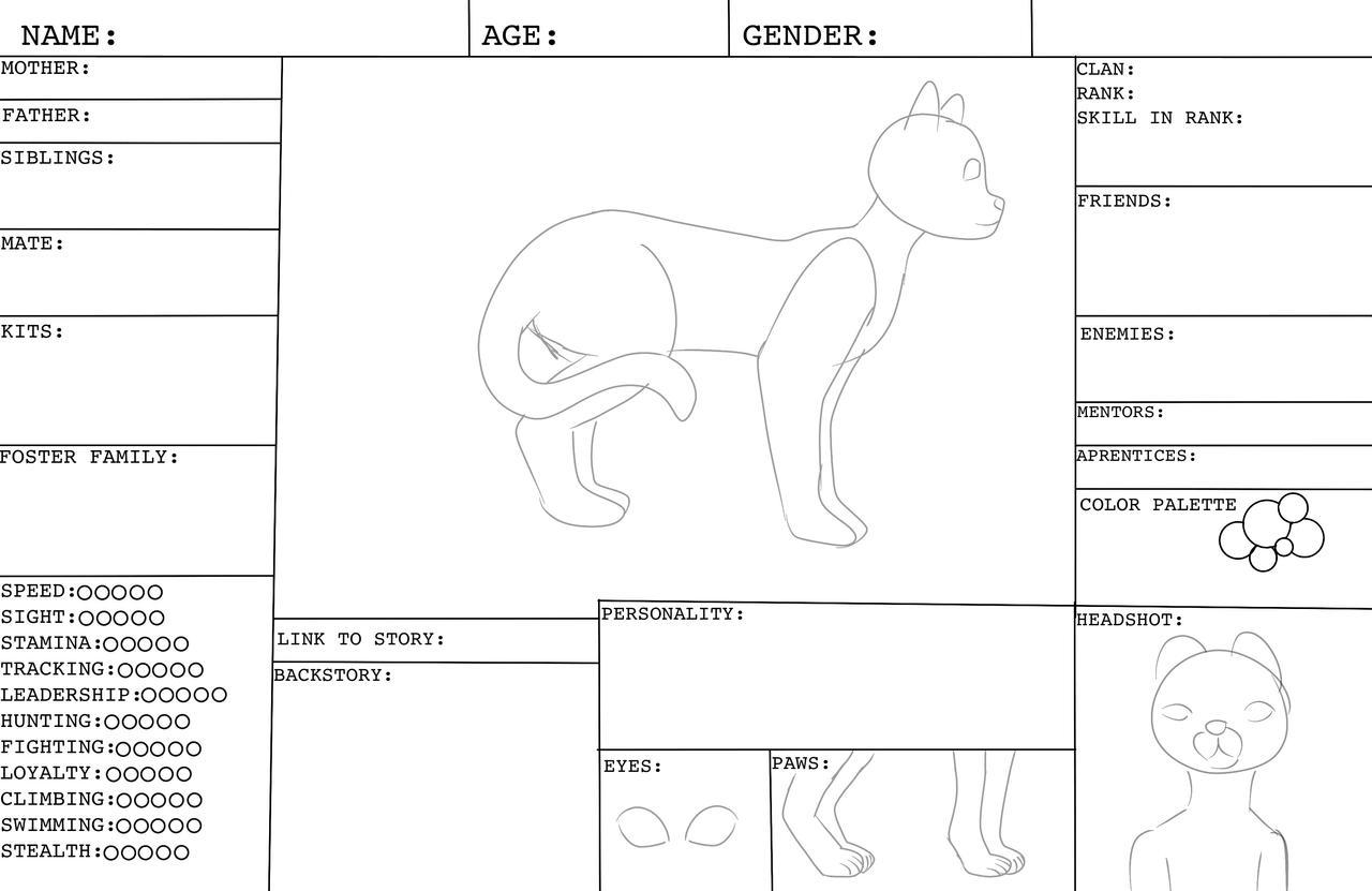 Warrior cats OC template