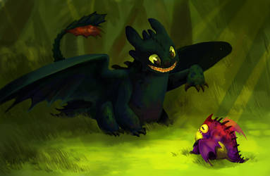 How To Train A Dragon: Are you my dinner? by Gold-Grifon