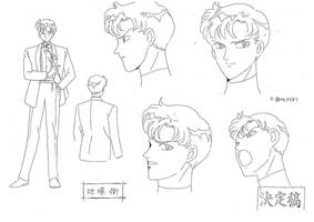 Darien Mamoru Model Sheet 3 by chewychomp