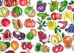 30 Fruits pattern