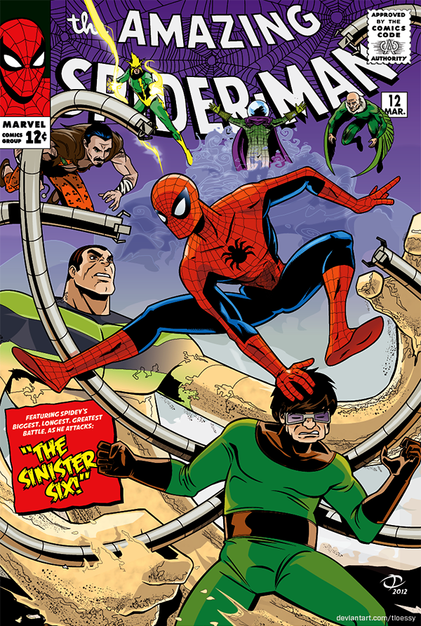 Spidey vs. The Sinister 6: 60's cover version by Tloessy