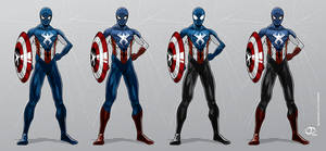 Spider-Man as Captain America