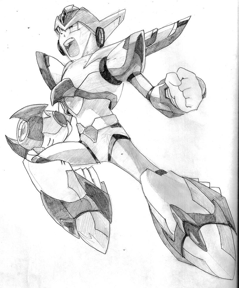 Megaman X. X Falcon armor by becmart03