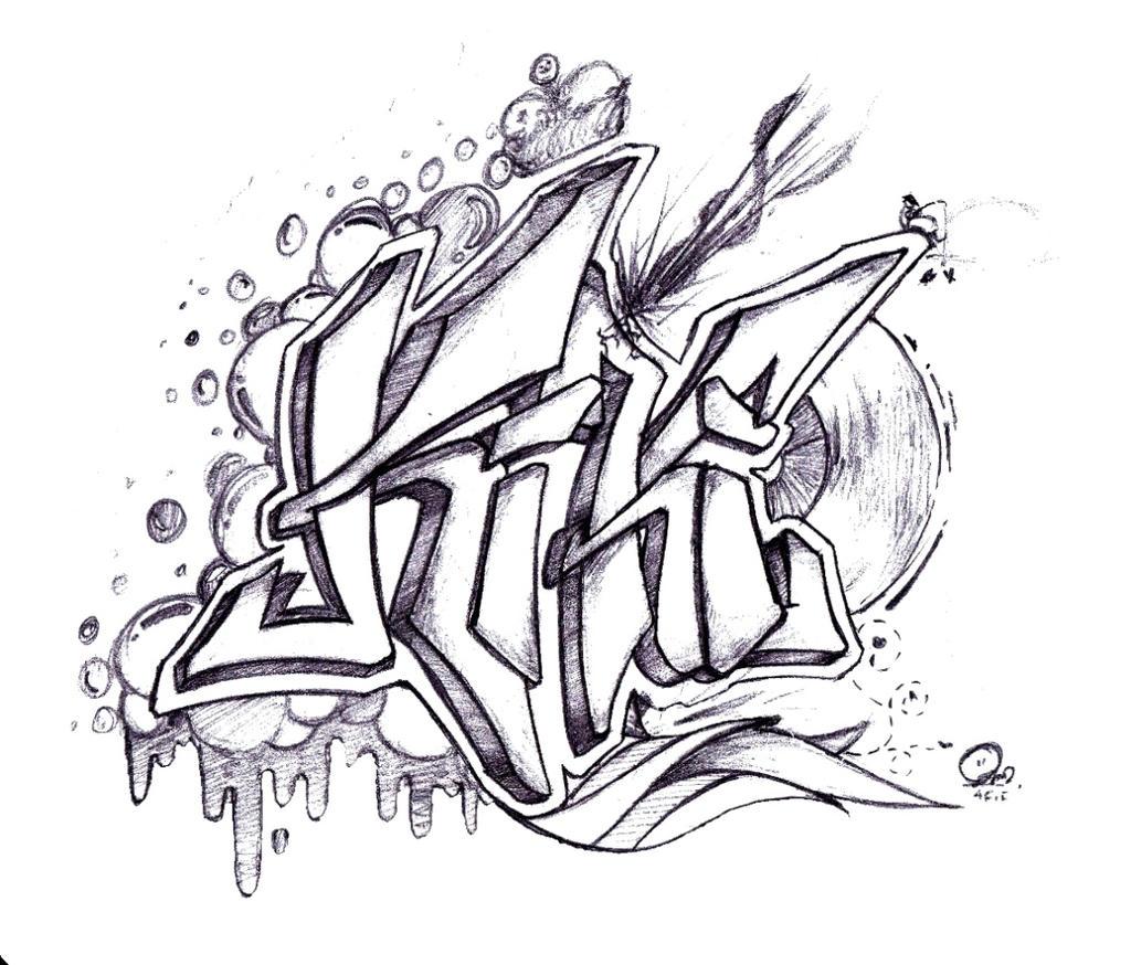 Grafiti Sketch Kiki by mogigraph on DeviantArt