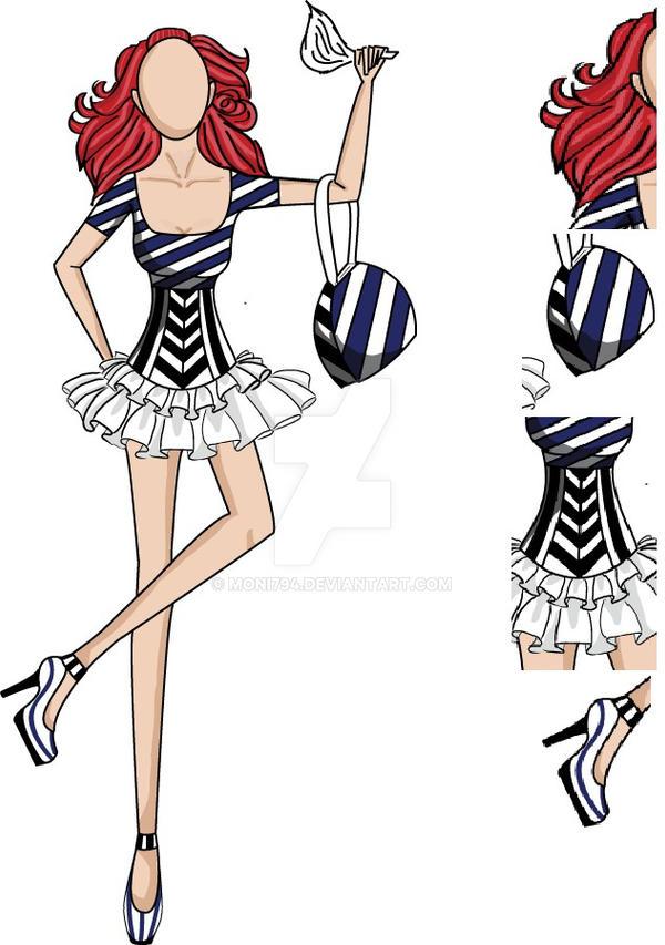 Fashion sketch 23 by moni794