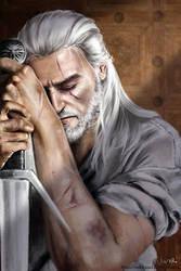 Geralt of Rivia by NikiVaszi