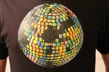 FUNKY GROOVY DISCOBALL SCREENPRINT by SCHWELLENWERT
