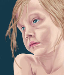 Child blue eyes WIP by ahojoshi