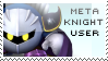 Meta Knight Stamp by yukidarkfan
