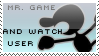 Mr. Game and Watch Stamp by yukidarkfan
