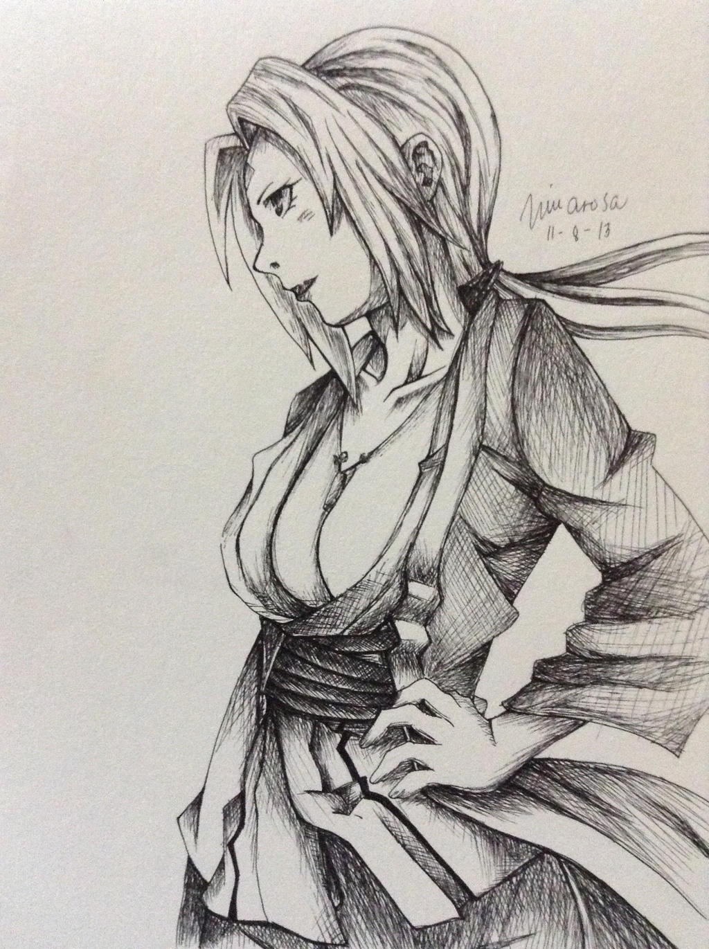 Tsunade Senju Drawing by FrownedClown