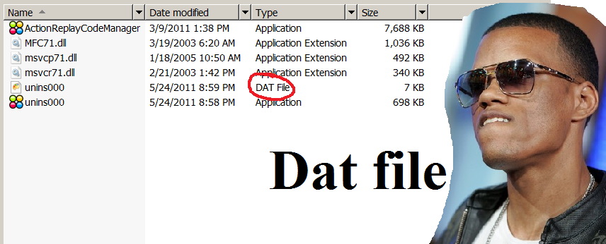 how to create a dat file