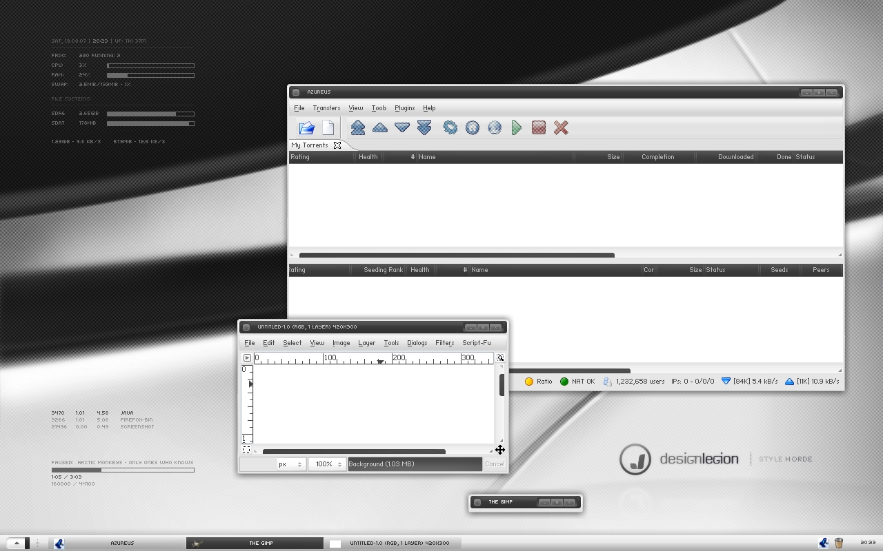 Prototype on Xfce - Aug 2007 by Uladk