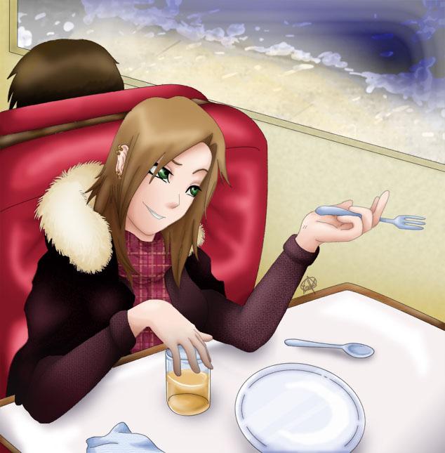 Late night drink by HikariSilverEye