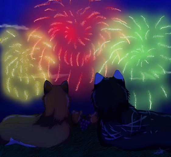 Fireworks by HikariSilverEye