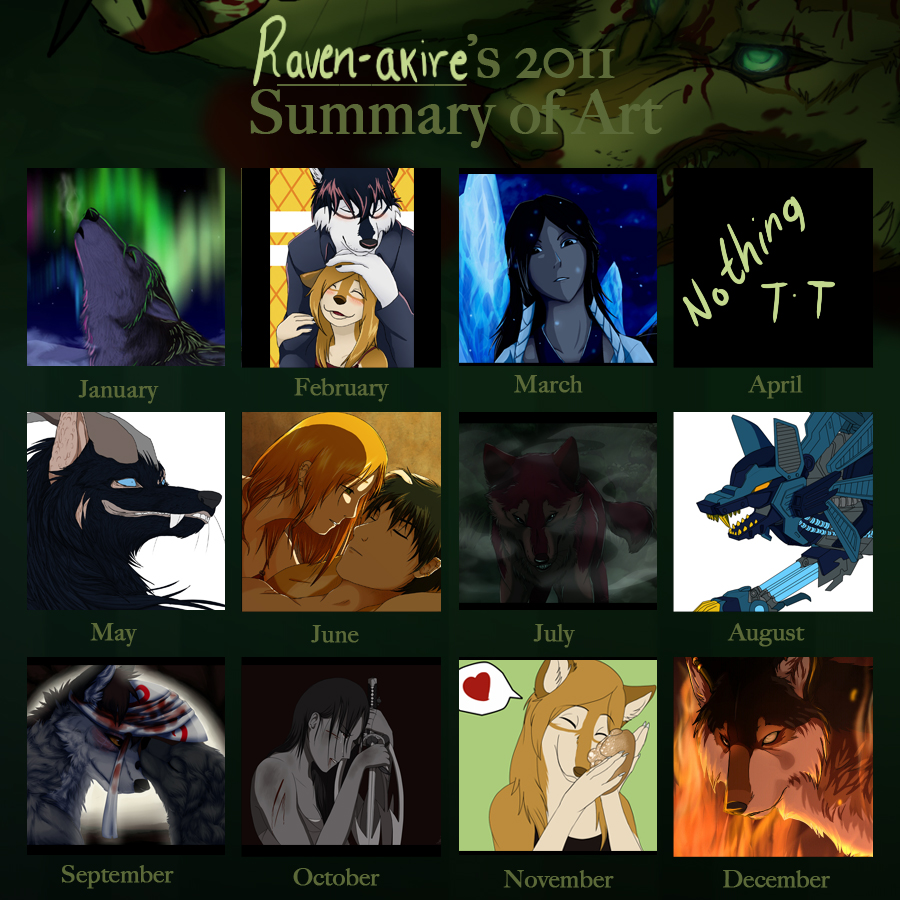Art Summary 2011 by HikariSilverEye